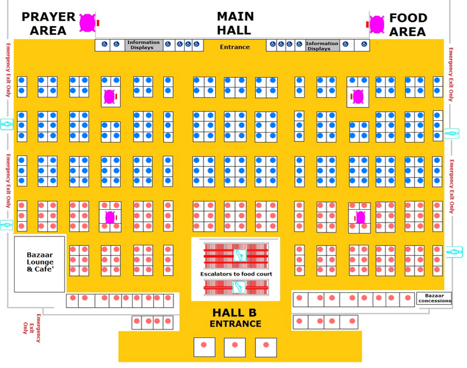 Digitized venue layout for reserved seating